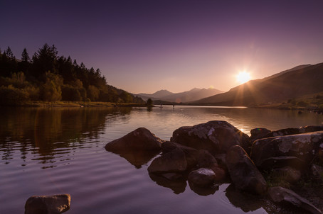Sunset at Llyn Mymbyr