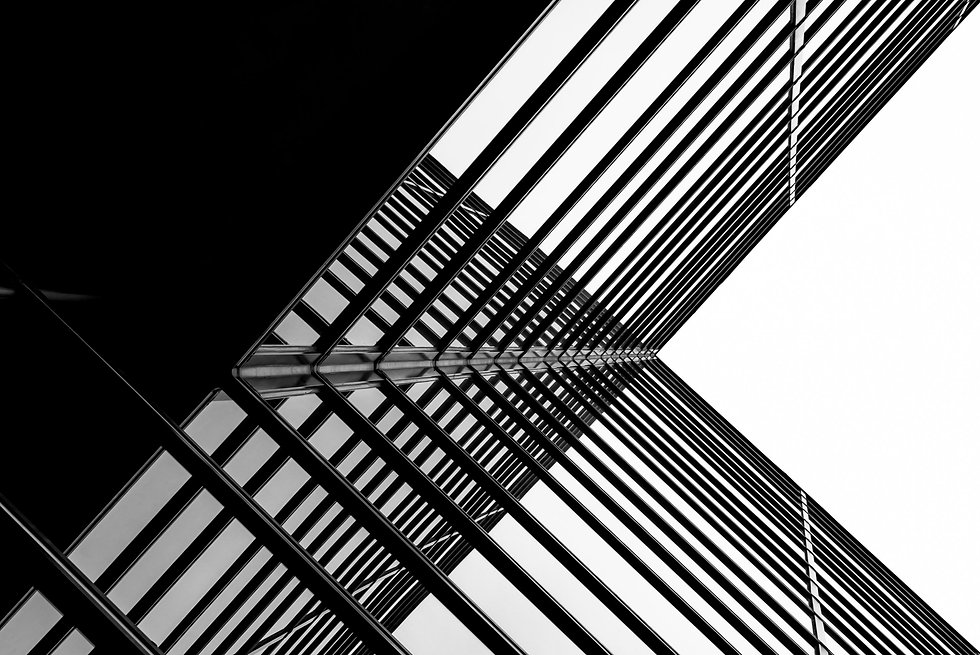 Urban Geometry, looking up to glass buil