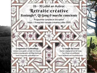Retraite créative Zentangle®, Qi Gong & marche consciente