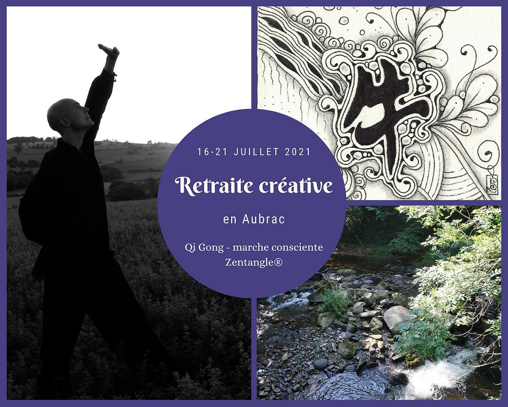 stage retraite créative qi gong zentangle aubrac juillet 2021