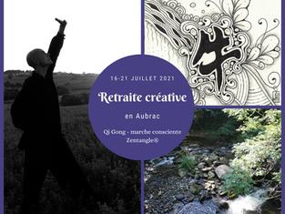 Retraite créative Zentangle®, Qi Gong & marche consciente ★ Juillet 2021