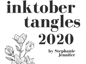 Inktober Tangles 2020, le défi du mois d'octobre