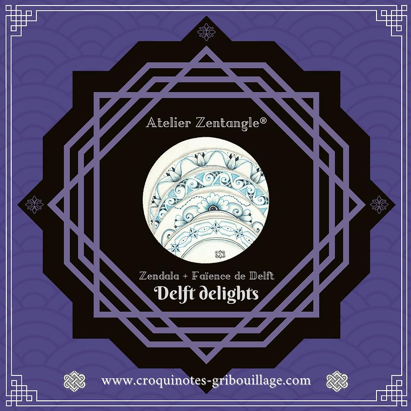 Delft delights™ ★ Zendala bleu