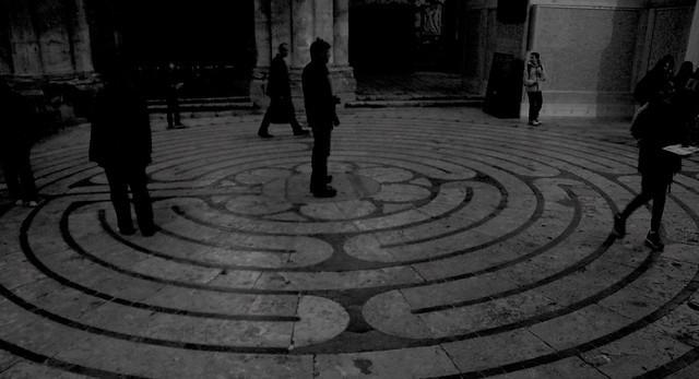 Labyrinthe de la Cathédrale de Chartres, cliché CLOTXA Produccions.