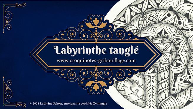 Labyrinthe Zentangle VOD CZT Ludivine Schott Croquinotes & Gribouillage