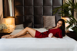 Kristina Starostina IPL Product photography model bed depilation