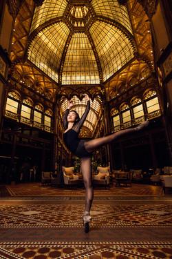 Ines Furuhashi Parizsi Udvar Hotel Budapest Luxury Ballerina Arabesque