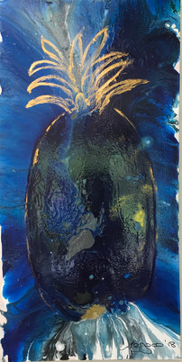 "VERKAUFT ""Blue pineapple"""