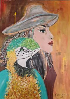 """""""la dame et son oiseau"""""""