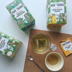 Sampling some lovely teas this morning from _heathandheathertea,  all organic and naturally flavoure