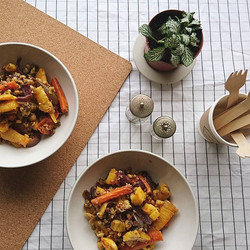 Testing out our Warming Root Veg & Mixed Grains Salad today