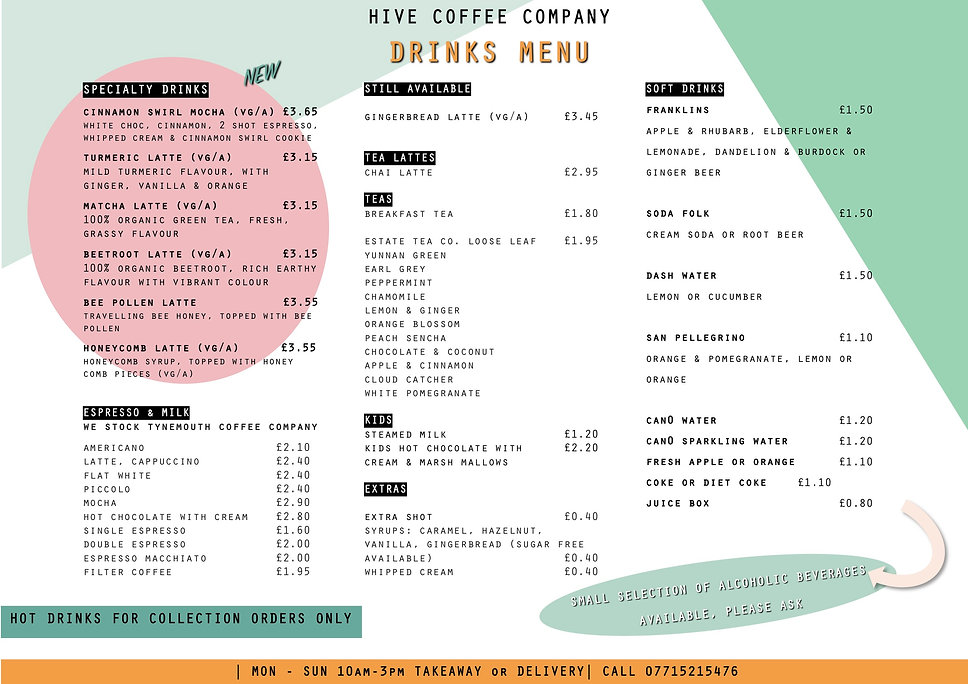 Collection & Delivery Menu JAN 18-24.01.