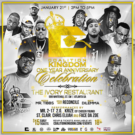 Coalition Kingdom DJs 1yr Anniversary is right around the corner!!!