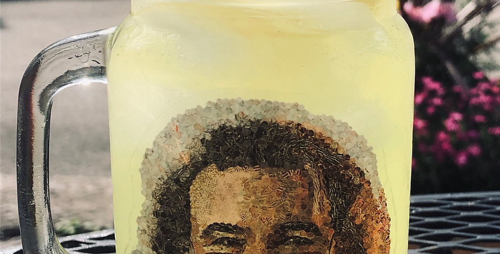 Jerry Garcia 16oz mason jar