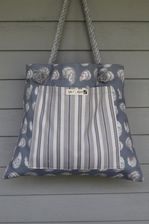 Large Tote - Stripe on Oyster