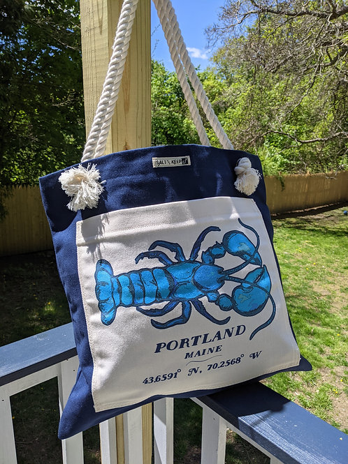 Town Tote - Portland / Blue Lobster