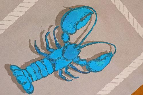Blue Lobster Table Runner
