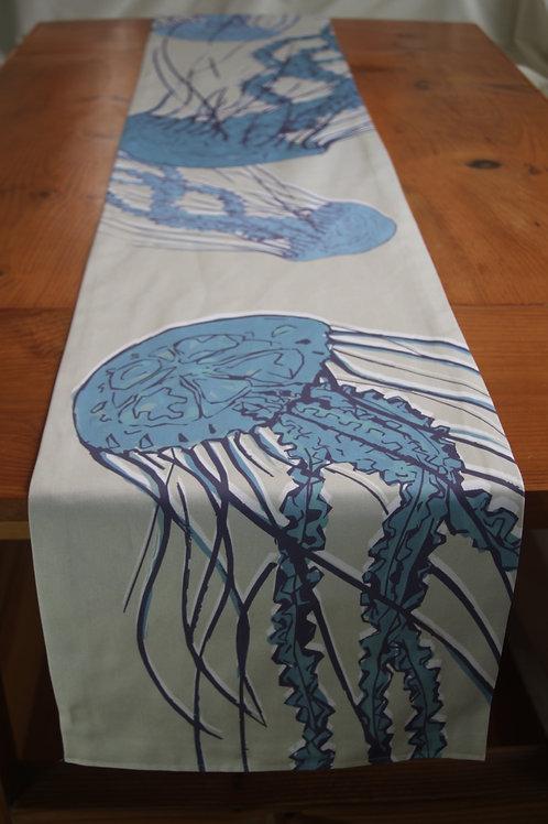 Blue Jellyfish Long Table Runner