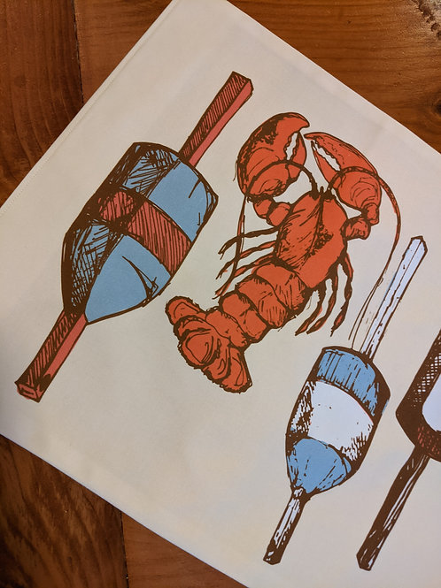 Lobsters and Buoys Table Runner