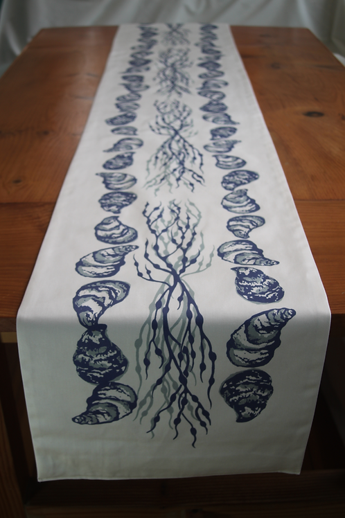 Oysters and Seaweed Long Table Runner