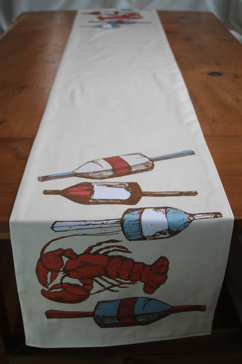 Lobsters and Buoys Long Table Runner