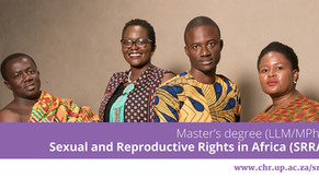 LLM/MPhil (Sexual & Reproductive Rights in Africa)