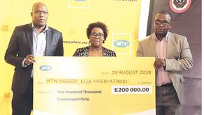 MTN FOUNDATION INJECTS E200 000 TO CIJA NGEBHIZINISI