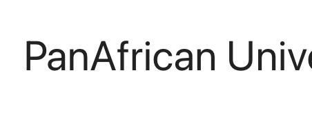 PAN AFRICAN UNIVERSITIES POSTGRADUATE SCHOLARSHIPS