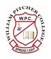 William Pitcher College 2021 Admissions List