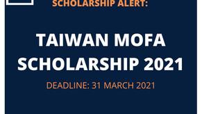 TAIWAN MOFA SCHOLARSHIPS