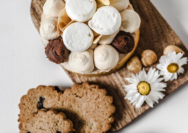 Cookie coeur& tartelette chocolat praline & macarons