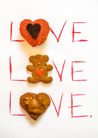 Pâtisserie saint-valentin - love