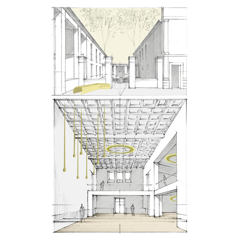 Solution A ILOT A - Réhabilitation de l'ancienne distillerie en salle des fêtes