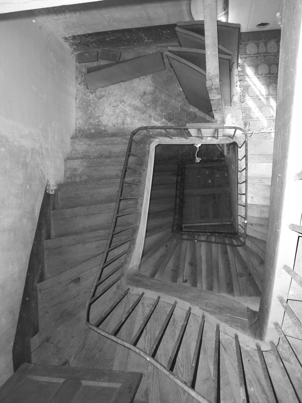 6A princet photo chantier restauration de l'escalier 19e CIMG1577 N&B.jpg