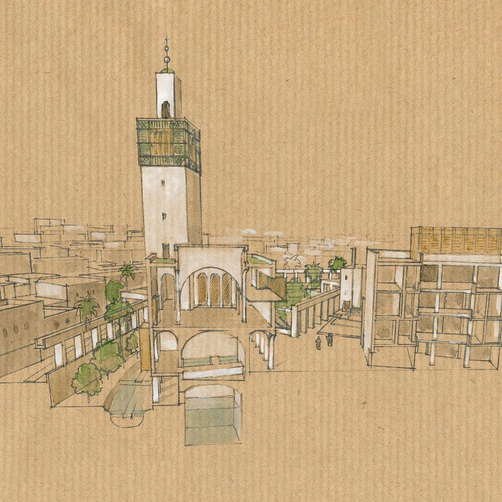 La mosquée et les bains