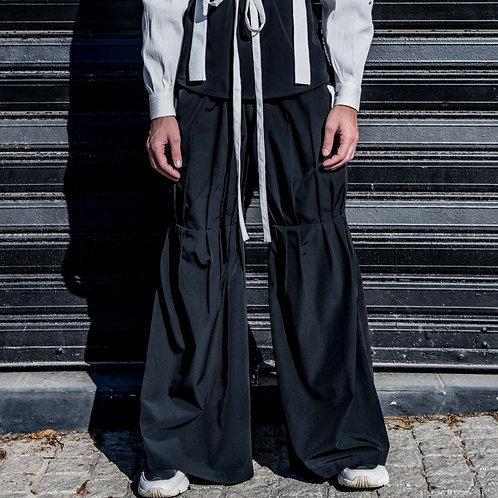 Pleated Pants - Black