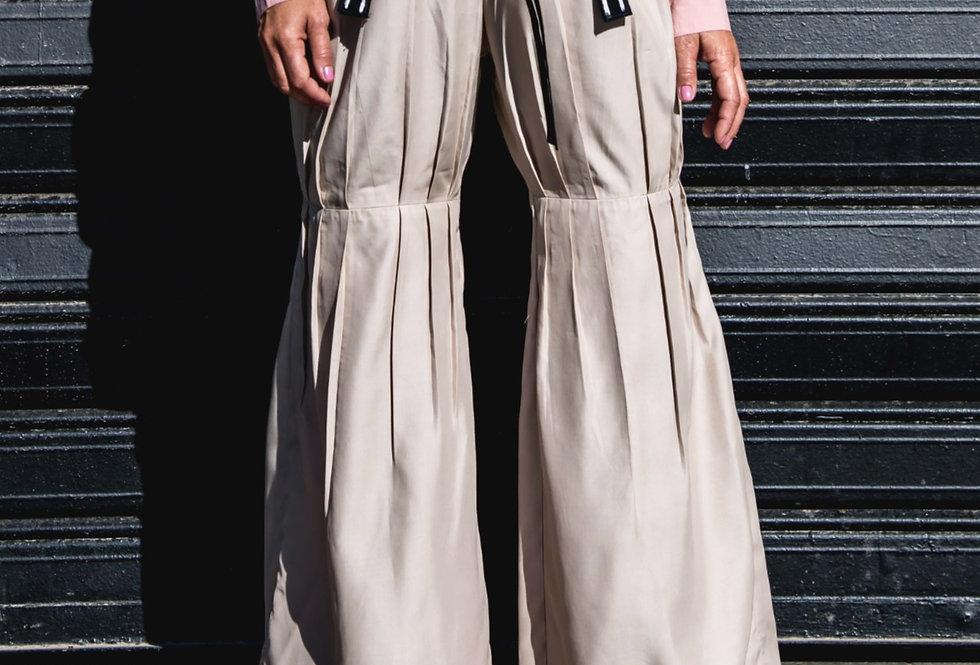 Pleated Bamboo Pants - Sand
