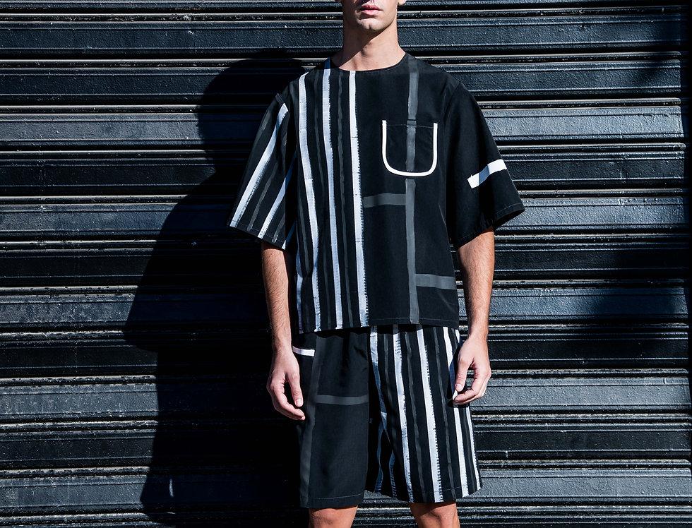 Painted Boxy Shirt - Black