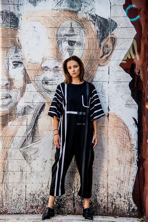 Painted Jumpsuit - Black