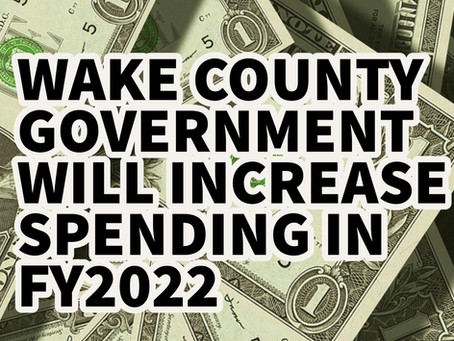 Wake County Government Plans To Spend More