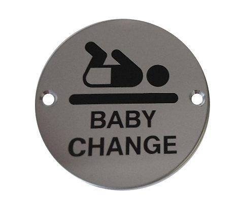 Baby Change Toilet Door Sign
