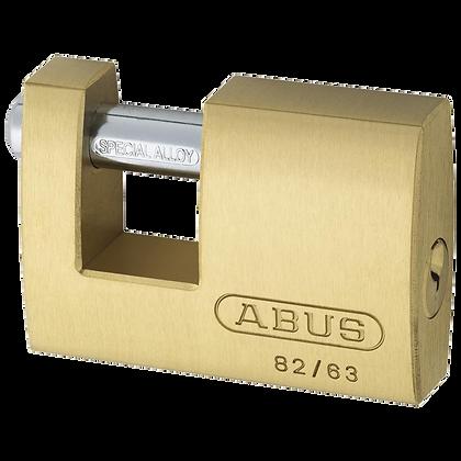 Abus 82 Series Brass Sliding Shackle Shutter Padlock