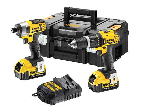 Dewalt DCZ285M2 Combi Drill & Impact Driver Twin Pack 18V 2 x 4.0Ah Li-ion
