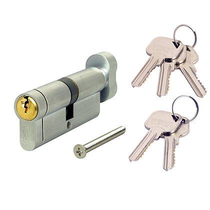 VERSA Dual Finish 6-Pin Key & Turn Euro Cylinders