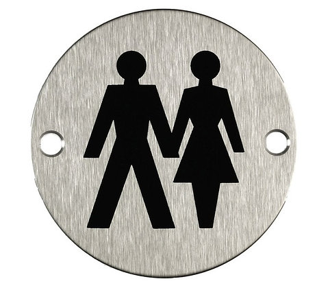 Unisex Toilet Door Sign