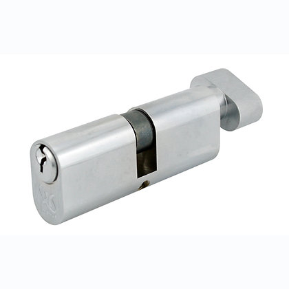 Oval 40/40 Key/Thumbturn Cylinder