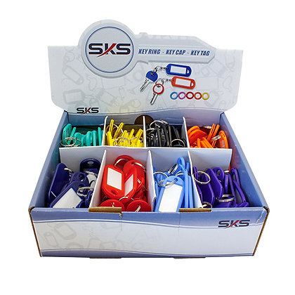 Box Of Plastic Key Tags