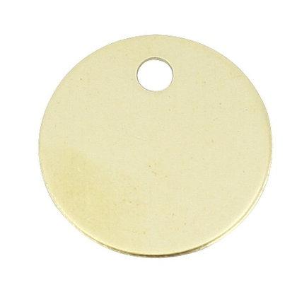 Brass Plated Round Discs