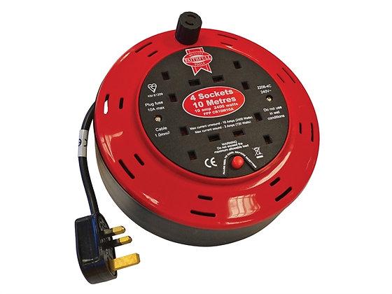 Faithful Cable Reel 240 Volt 10 Metre 10 Amp 4 Socket