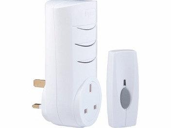 Byron Wireless Plug-Through Chime Kit 60m